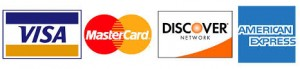We accept all major credit cards; Visa, MasterCard, Discover Card, American Express